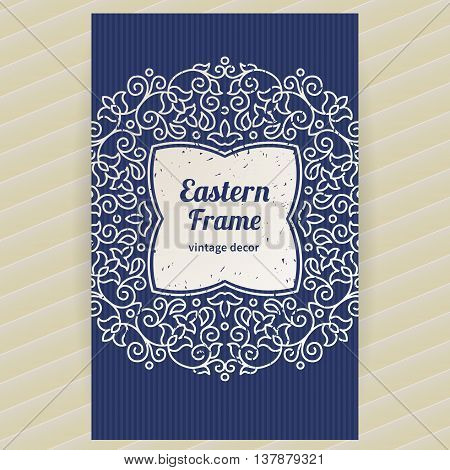 Vintage Ornate Card With Eastern Elements.