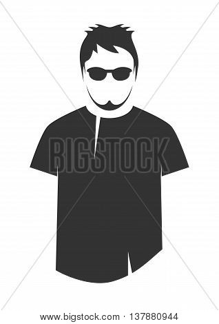 T-shirt design. Icon isolated on white. Vector illustration.