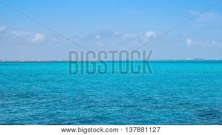 Cancun, Mexico - Beautiful blue Carribean sea