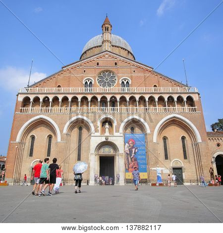 PADUA, ITALY - July, 9, 2016: Basilica of Saint Anthony in Padua, Italy