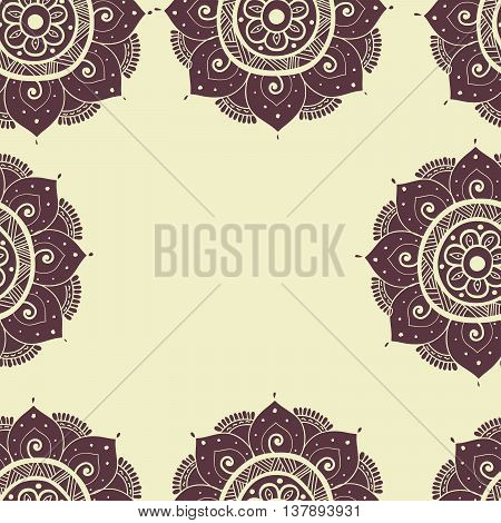 Seamless abstract hand-drawn waves patternbrown and beige color. Seamless pattern can be used for pattern fills web page backgroundsurface textures. floral background