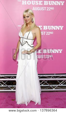 Anna Faris at the Los Angeles premiere of 'House Bunny' held at the Mann Village Theatre in Westwood, USA on August 20, 2008.