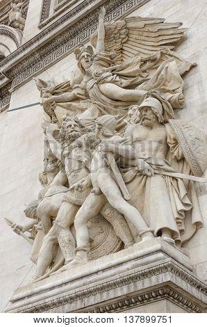 PARIS FRANCE - NOVEMBER 14 2013: Arc of Triumph Paris