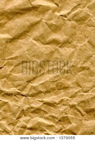 Crumpled Brown Paper Bag
