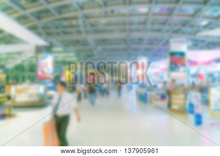 Abstract blur airport shopping tax free area