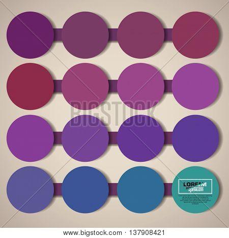 minimalistic circles concept background