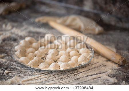 Homemade Dumpling On The Plate