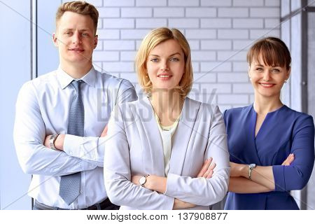 Portrait Of Business Team / people standing in the Office