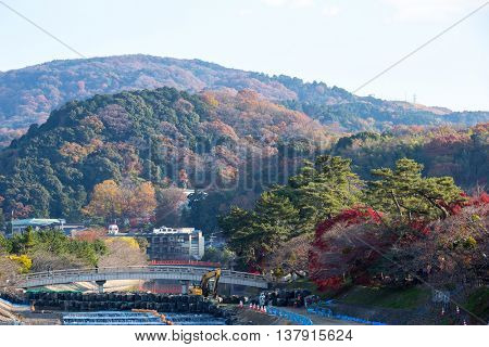 Uji Town in Kyoto prefecture Kansai Japan