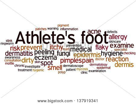 Athlete's Foot, Word Cloud Concept 2