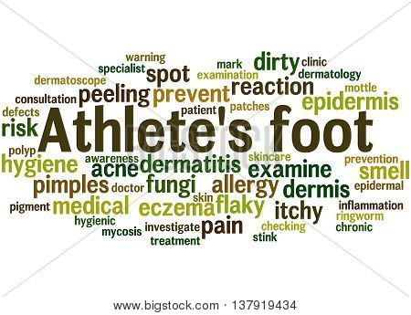 Athlete's Foot, Word Cloud Concept 7