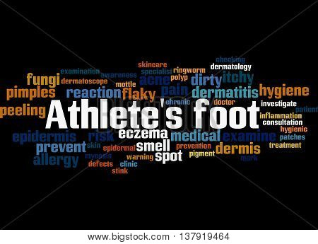 Athlete's Foot, Word Cloud Concept 9