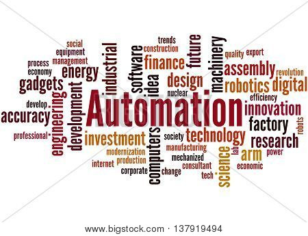 Automation, Word Cloud Concept 3