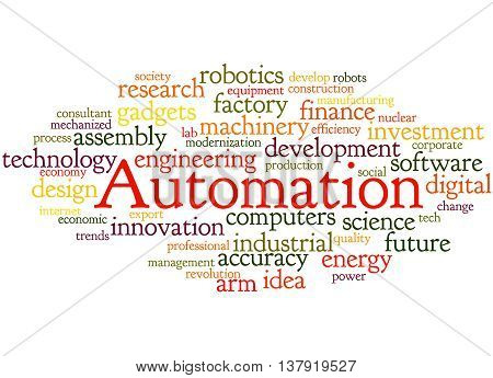 Automation, Word Cloud Concept 5