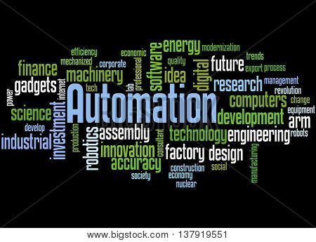 Automation, Word Cloud Concept 6