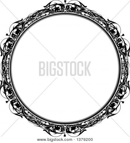 Marco de círculo de Victoriano