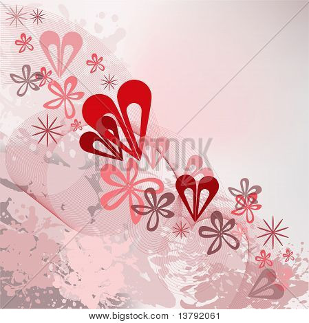 Spattered Background With A Diagonal Ornament