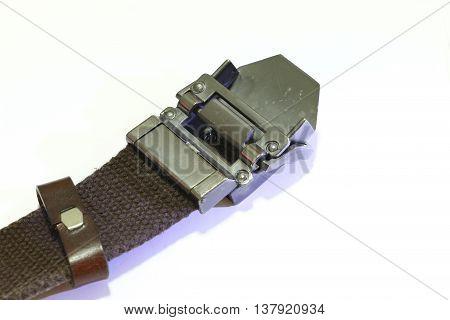 Fashion belt on the white background ,Rope belt
