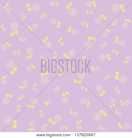 Floral lilac pattern. Fine texture with flowers