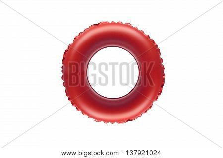 red lifesaver for kid isolated on white
