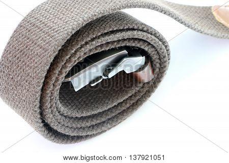 Fashion belt on the white background, Rope belt