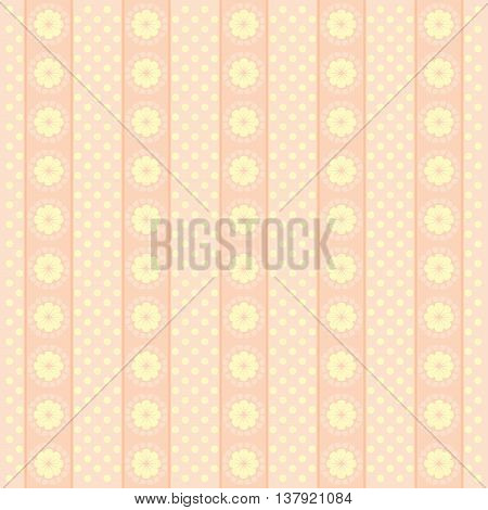 Pink Elegance floral pattern. Beautiful flowers background.
