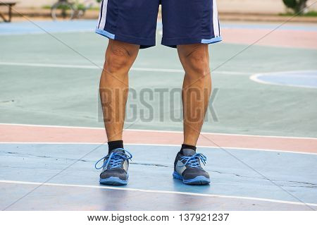 An asian man with physiological bow legs