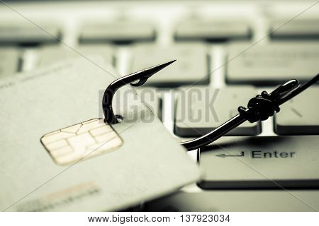 credit card phishing / data theft concept