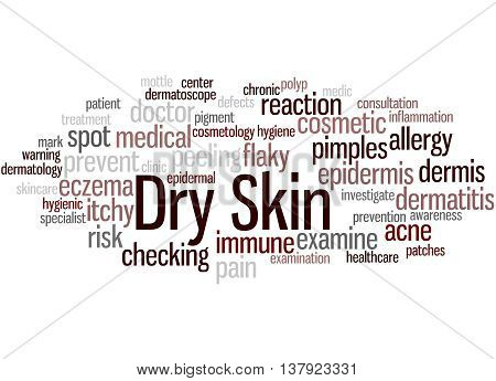 Dry Skin, Word Cloud Concept 5