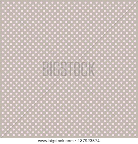 Polka dot pattern on grey background. Vector