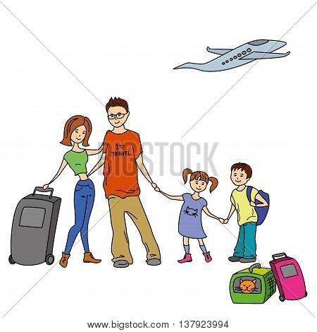 Happy Family With Summer Trip Vacations Holiday Travel Destination Relationship Journey Trips Lifestyle