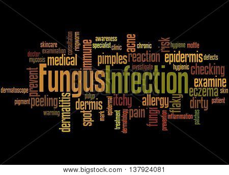 Fungus Infection, Word Cloud Concept 4