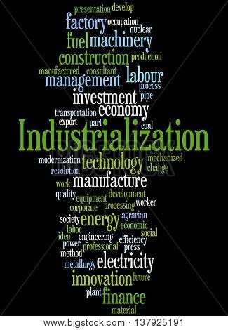 Industrialization, Word Cloud Concept 6