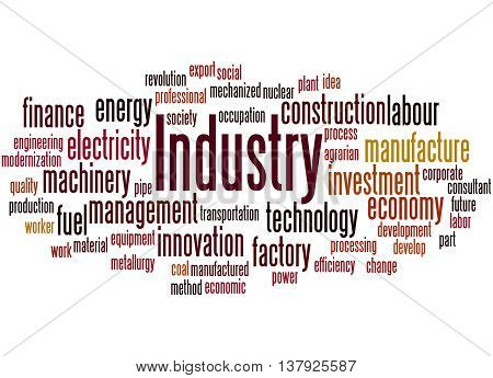 Industry, Word Cloud Concept 6