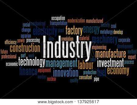 Industry, Word Cloud Concept 8