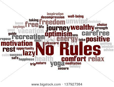 No Rules, Word Cloud Concept
