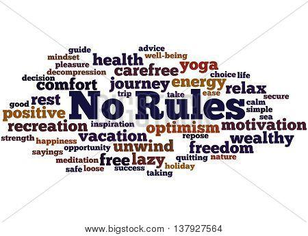 No Rules, Word Cloud Concept 9