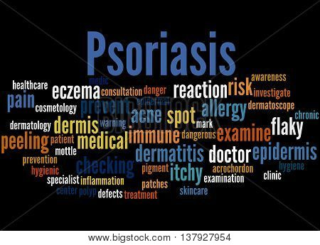 Psoriasis, Word Cloud Concept 5