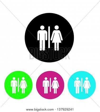 Male and Female Restroom Symbol Icon vector