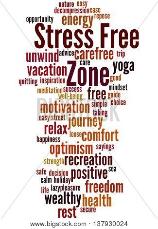 Stress Free Zone, Word Cloud Concept 4