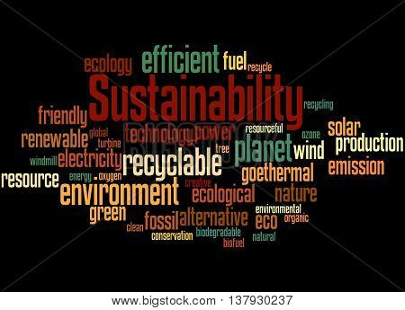 Sustainability, Word Cloud Concept 2