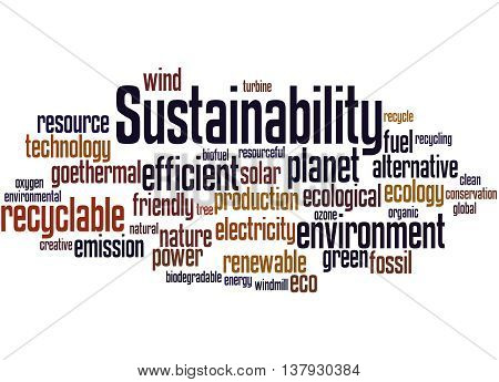 Sustainability, Word Cloud Concept 8