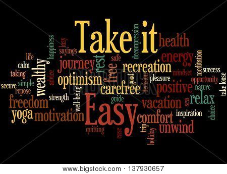 Take It Easy, Word Cloud Concept 3