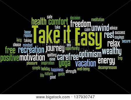 Take It Easy, Word Cloud Concept 7