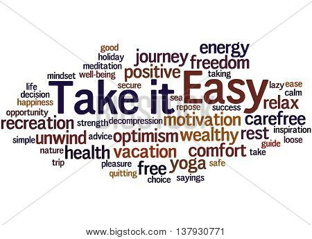 Take It Easy, Word Cloud Concept 8