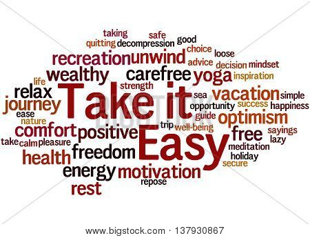 Take It Easy, Word Cloud Concept 9
