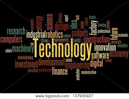 Technology, Word Cloud Concept 3