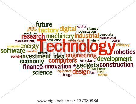 Technology, Word Cloud Concept 6
