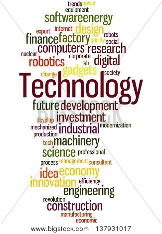 Technology, Word Cloud Concept 7