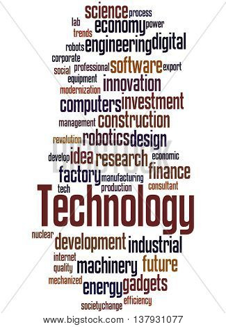 Technology, Word Cloud Concept 9